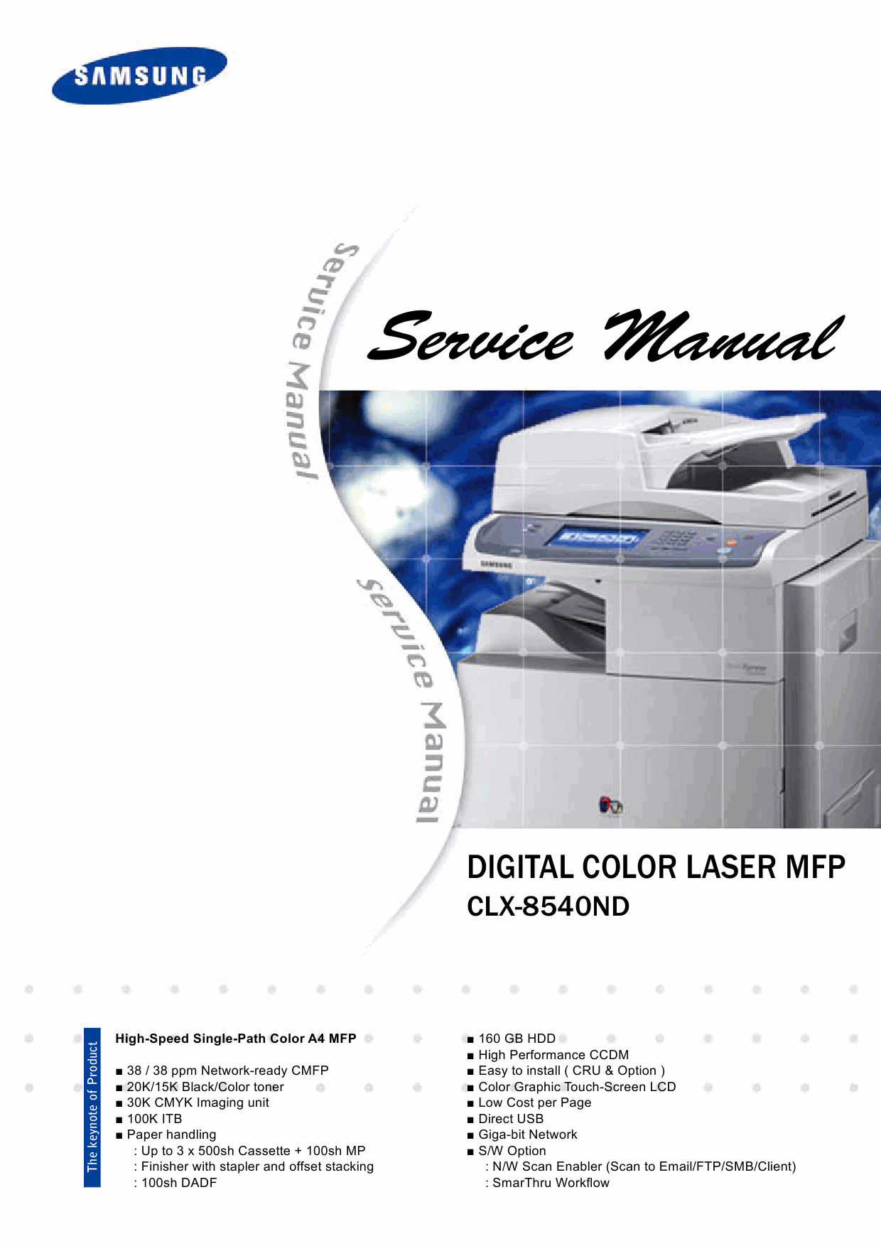 Samsung Digital-Color-Laser-MFP CLX-8540ND Parts and Service Manual-1